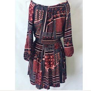 American Eagle Outfitters Dresses - American Eagle Boho Cold Shoulder Dress